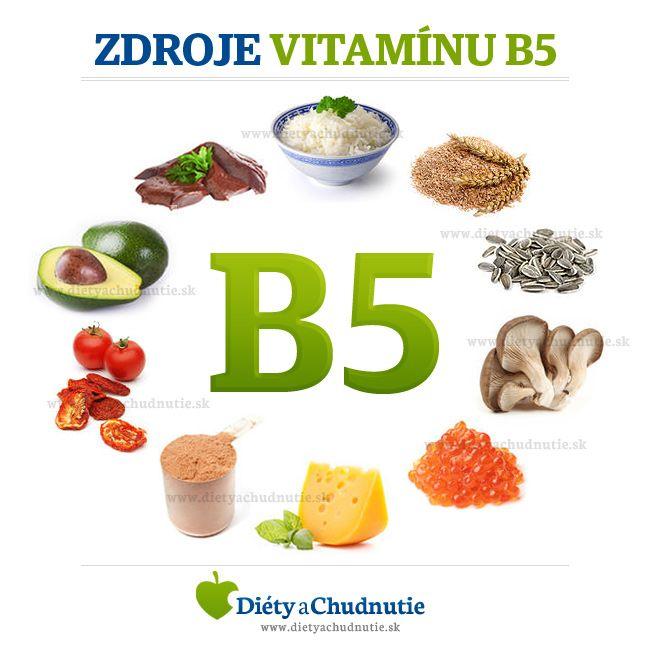 zdroje vitamínu B5 - kyseliny pantoténovej