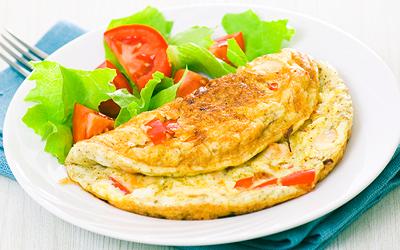 diétny recept - dukanova diéta - omeleta