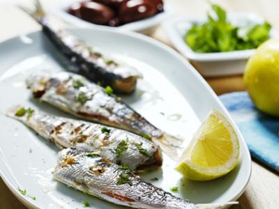 diétny recept - grilované sardinky