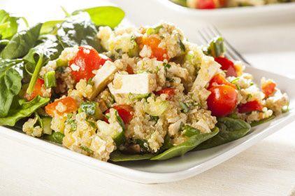 quinoa s tofu a špenátom