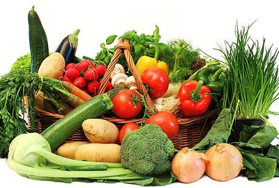 zeleninový záhradný šalát
