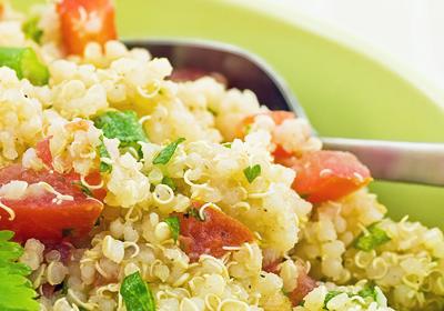 diétny recept - šalát z quinoy
