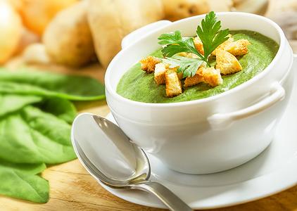 diétny recept - špenátová polievka