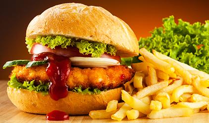 tuky v potravinách - fast food