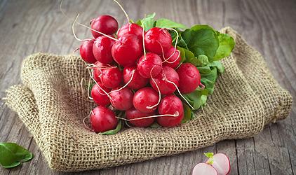 zdravé potraviny na chudnutie - reďkovka