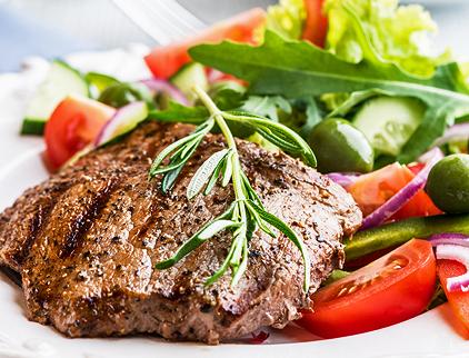 zdroj bielkovín - steak